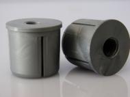 ВТР-М10-СМ Втулка торцевая с резьбой М10(М8),сер.металлик