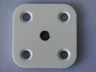 ПС-1-БЛ      Пластина соед. 60*60*4 с резьб.М10,полим.,бел.