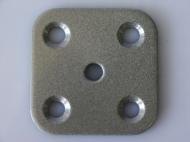 ПС-1-СМ     Пластина соед.60*60*4 с резьб.М10,полим.,сер.металлик