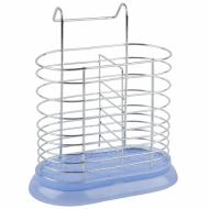 Подставка для столовых приборов (180х110х200) хром