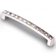 CRL02-128 Ручка-скоба с кристаллами 128мм хром