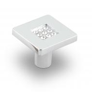CRL03 Ручка-кнопка с кристаллами, хром