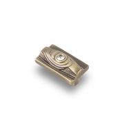 CRL15BA Ручка-кнопка с кристаллами, бронза