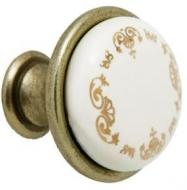 Ручка кнопка KNOP UZ AB (бронза)