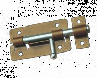 Задвижка дверная ЗД-01 пол.бронза (20)